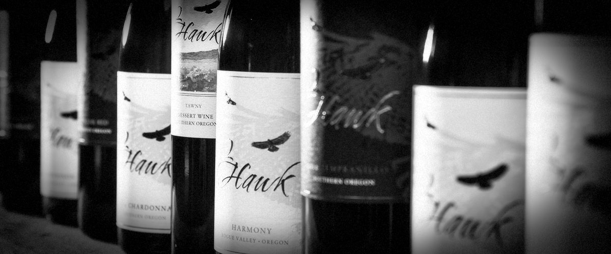 2Hawk Vineyard and Winery Wines (Grayscale)