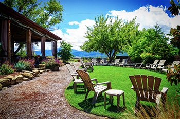 Lawn Chairs Set up for Happenings at 2Hawk Vineyard and Winery