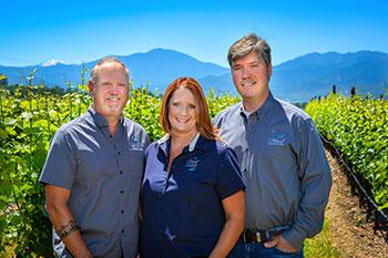2Hawk Vineyard and Winery Team in Vineyard