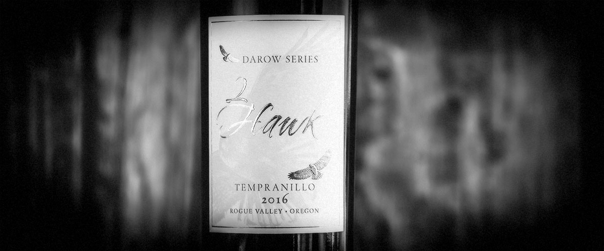 2Hawk Vineyard and Winery Darow Series 2016 Tempranillo Closeup (Grayscale)