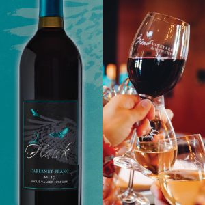 2Hawk Vineyard and Winery Cabernet Franc 2017: Cheers!